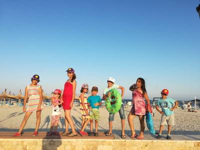 Our superstars at the beach - they start to like posing for pictures